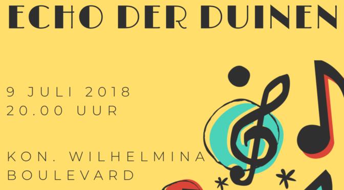 Maandag 9 juli zomerconcert op de Koningin Wilhelmina Boulevard